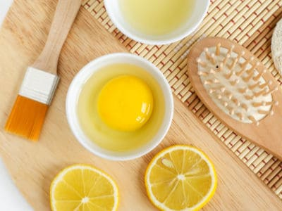 Coconut oil with egg homemade hairmask recipe