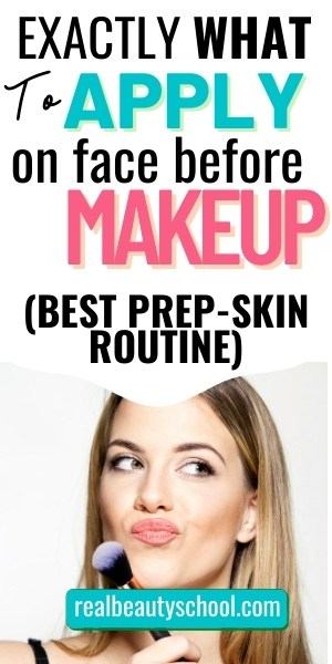 AM Skincare routine for Makeup, what to apply on Makeup for flawless skin, best prep-skin routine