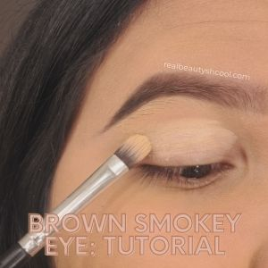 Brown Smokey eye tutorial for beginners