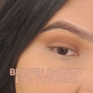 brown smokey eye tutorial