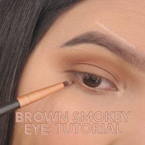brown smokey eyes look