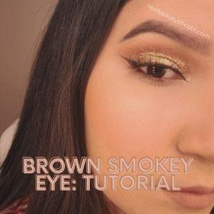 brown smokey eye with glitter
