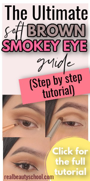 Brown Smokey eye step by step easy for beginners