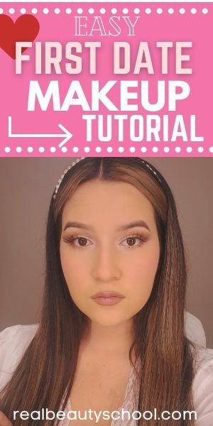 Easy soft romantic makeup look for a date rose golde makeup for a date, soft glam makeup look for a date