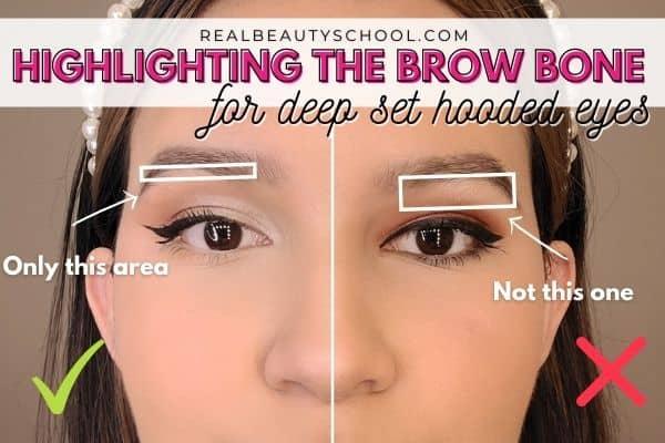 How to apply eyeshadow to make deep set eye pop