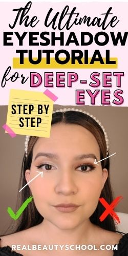 Eye makeup tips for deep set eyes, step by step tutorial for mature hooded eyelids