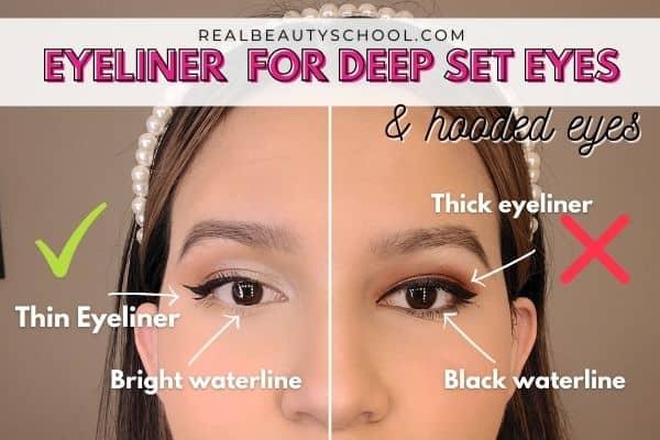 Deep set eyes eyeliner tutorial