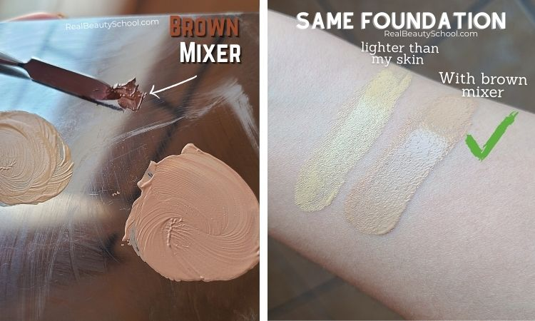 How to fix foundation that is too light for my skin tone