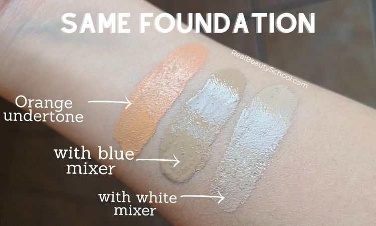 Orange undertone foundation and how to fix it with foundation color adjusters