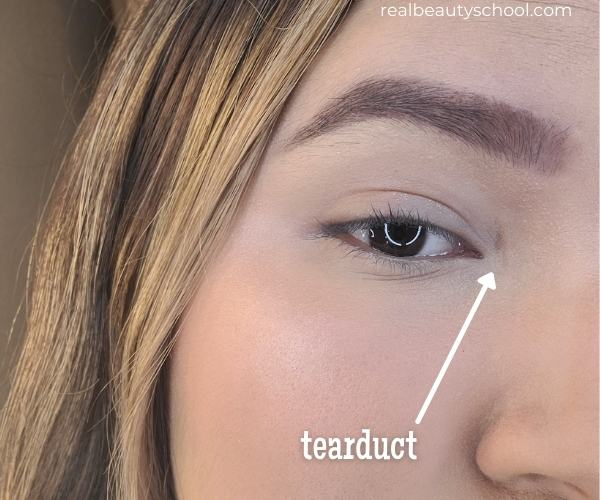 What is the teardut of the eye? Eye makeup terms