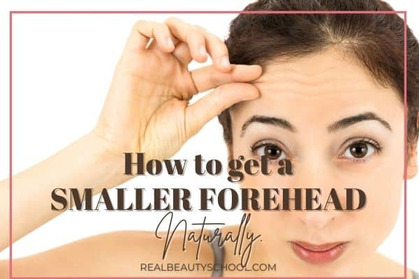 Smaller forehead without surgery