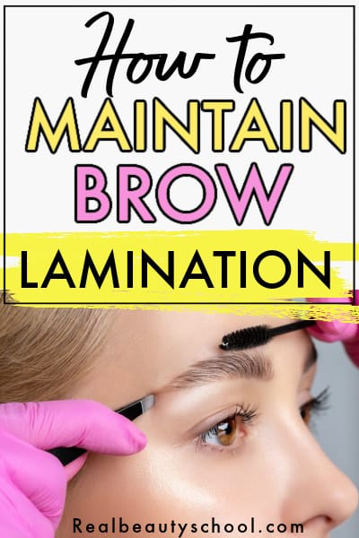 how to maintain brow lamination