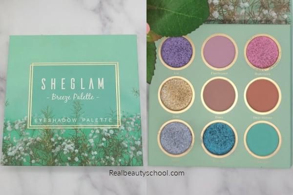 sheglam eyeshadow review breeze palette