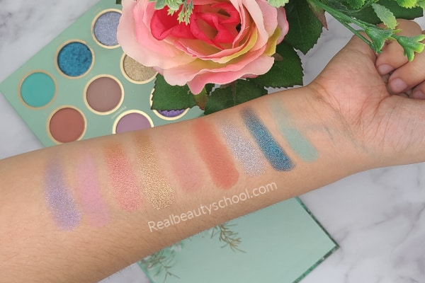 SHEGLAM eyeshadow palette breeze swatches and review