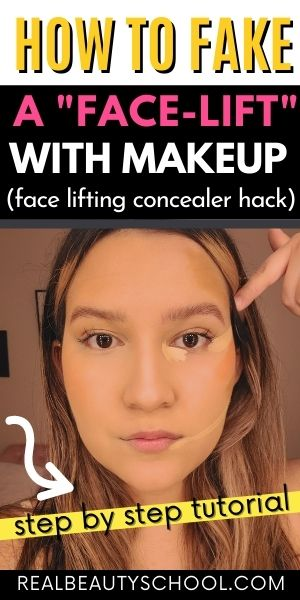 concealer hack to lift up your face with makeup
