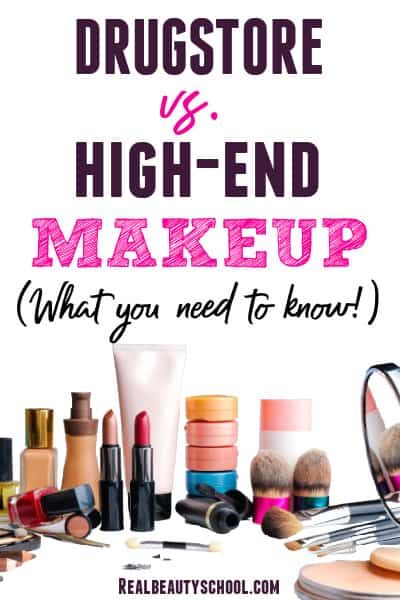 Everything you need to know about Drugstore vs High-End Luxury makeup when making a purchase decision. What is considered high end makeup and is really better?