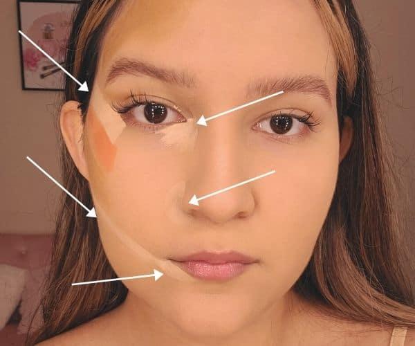 Face lifting concealer hack