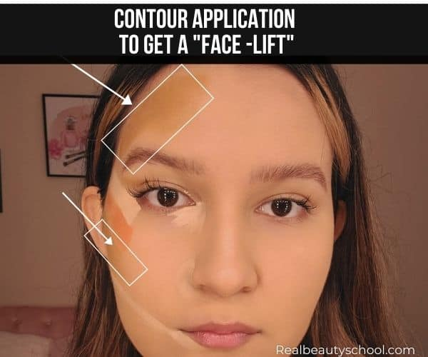 Fake face lift using contour