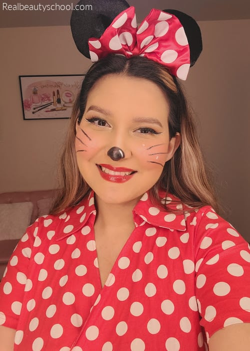 Minnie mouse makeup costume for adults