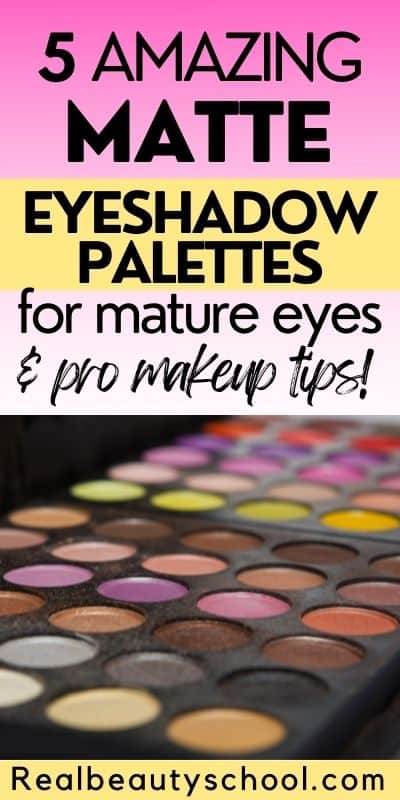 matte eyeshadows for mature eyes and women over 50
