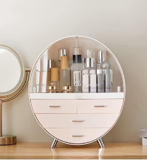 Makeup storage organizer white