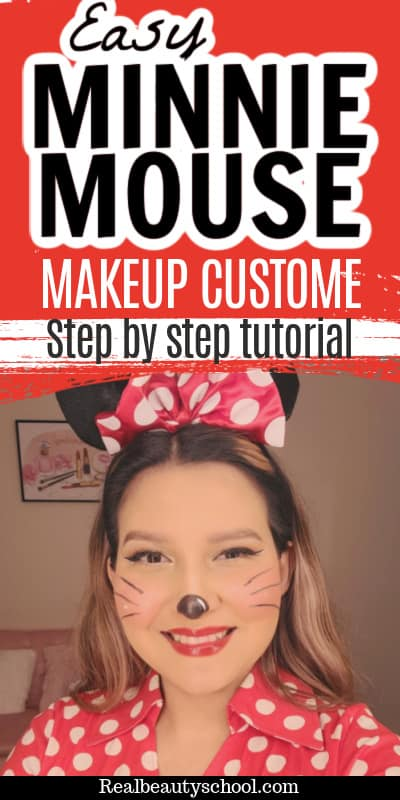 Easy minnie mouse makeup custome and tutorial
