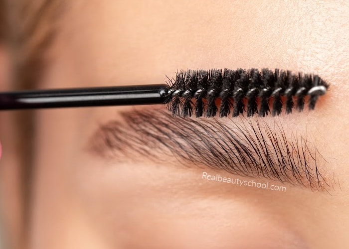 how to fake a brow lamination with brow wax