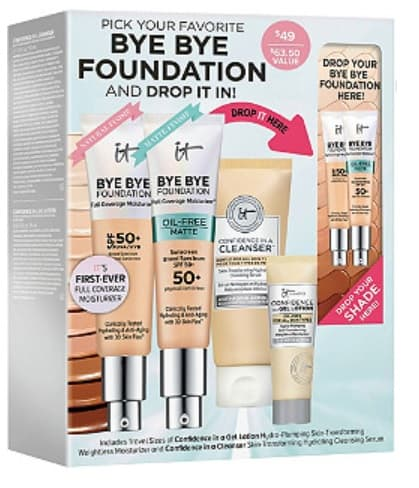 bye bye foundation customizable makeup kit for gift