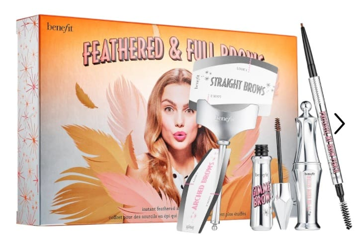 Feathered and full brow set for makeup gift