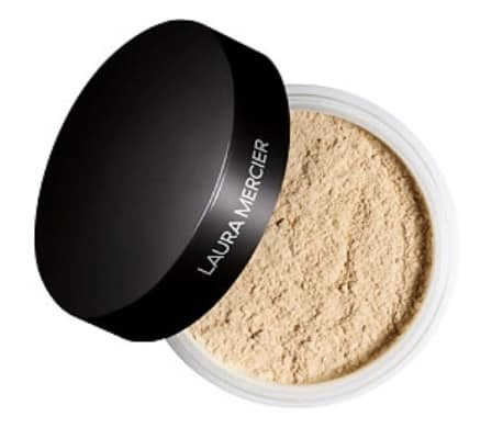 laura mercier translucent powder to set the eyeshadow primer before applying eyeliner to prevent it from smearing